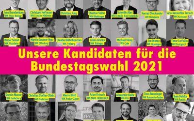 FDP Kandidaten für die Bundestagswahl 2021
