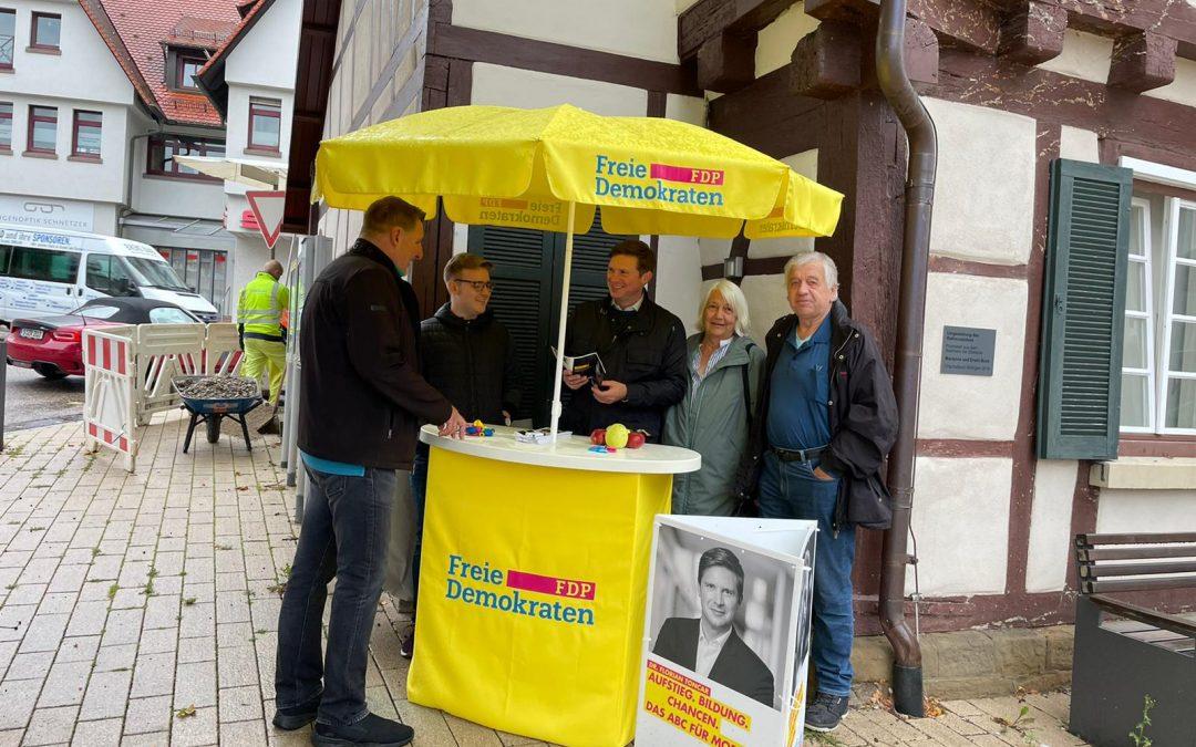 FDP Infostand zur Bundestagswahl 2021
